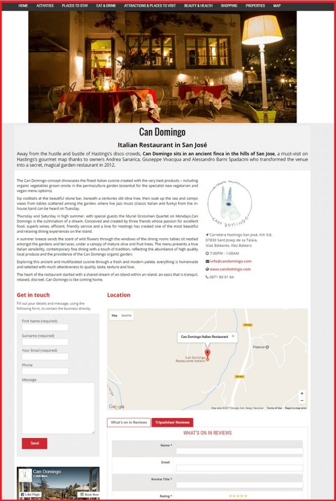 Sales Page Example when Advertise with us What's on in South East London.com